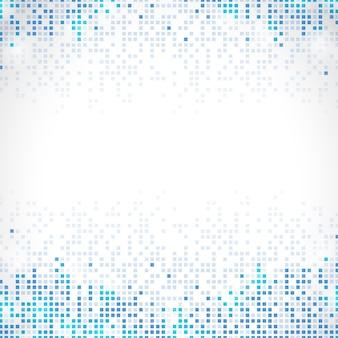 Abstrakter pixelregenhintergrund mit blauem rand
