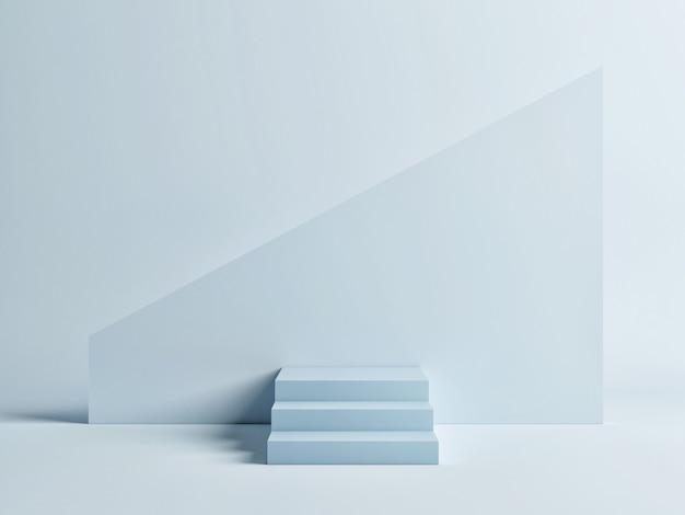 Abstrakter podiumblauer hintergrund für produktpräsentation