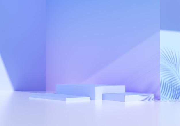 Abstrakter podiumshintergrund, modell für produktschaufensterstudio. 3d-rendering-illustration.