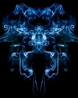 Abstrakter rauch auf schwarzem
