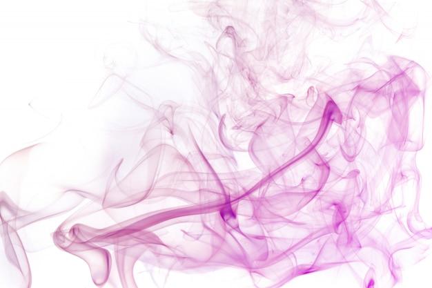 Abstrakter rauch des räucherstäbchenweißhintergrundes