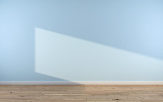 Abstrakter raum. leerer raum mit wand. 3d-rendering