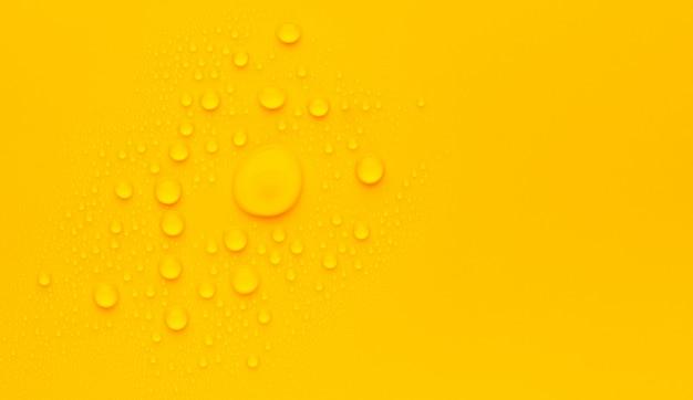 Abstrakter raum orange wassertropfenhintergrund