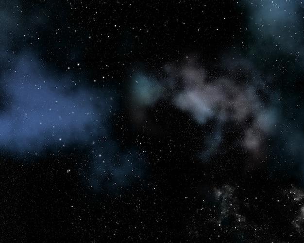 Abstrakter raumhintergrund mit nebel und sternen