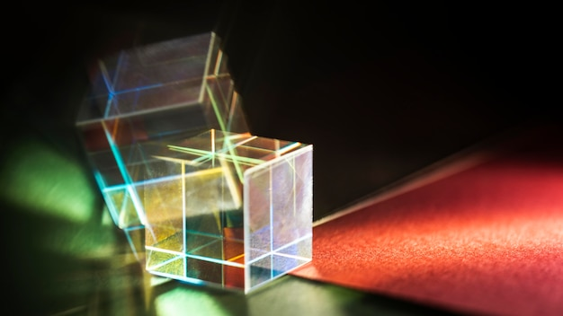 Abstrakter regenbogen beleuchtet prismeneffekt