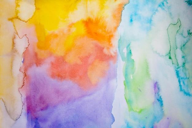 Abstrakter regenbogenaquarellhintergrund