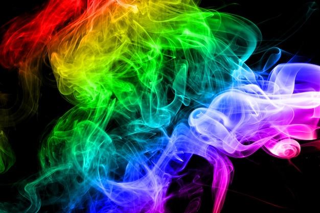 Abstrakter regenbogenrauchhintergrund