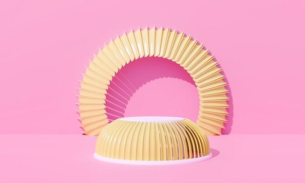 Abstrakter rosa pastellhintergrund. 3d-rendering für podium, ständer, bühne, podest.