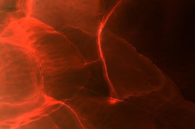Abstrakter roter ozean-exoplanetenhimmel, alkoholtintenhintergrund, lavaexplosion, scharlachrote farbflecken und flecken, acryltapetendruckmaterialien