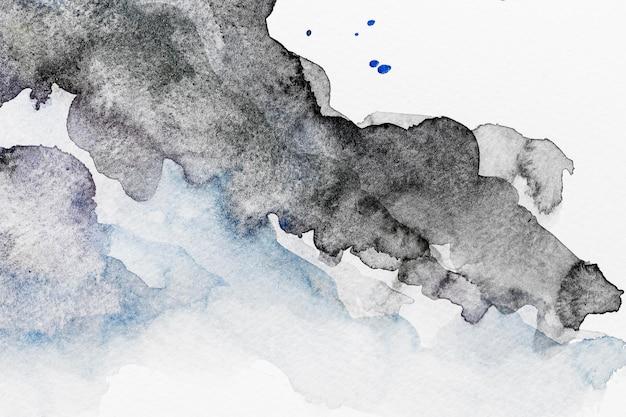 Abstrakter schwarzer aquarellkopierraummusterhintergrund