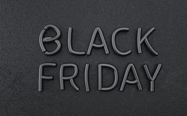 Abstrakter schwarzer freitaghintergrund mit luxustext. 3d-rendering
