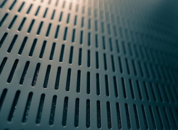 Abstrakter schwarzer servergestell-beschaffenheitshintergrund, modernes gitterlichtdesign mit kopienraum
