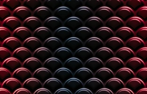Abstrakter schwarzer und roter hintergrund mit geometrischem japanischem wellenmuster