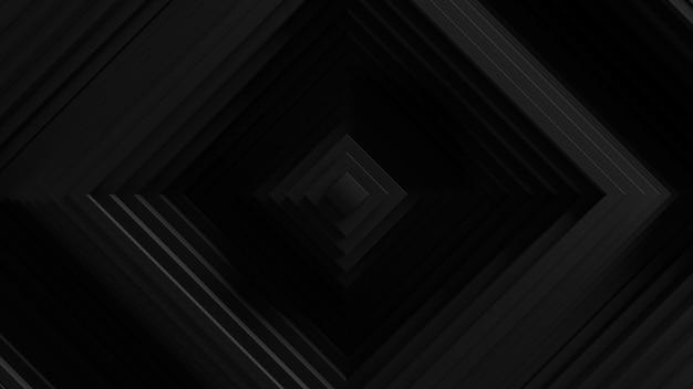 Abstrakter schwingungshintergrund der quadratischen jalousien. . wellenförmige oberfläche der 3d-wände. verschiebung geometrischer elemente.