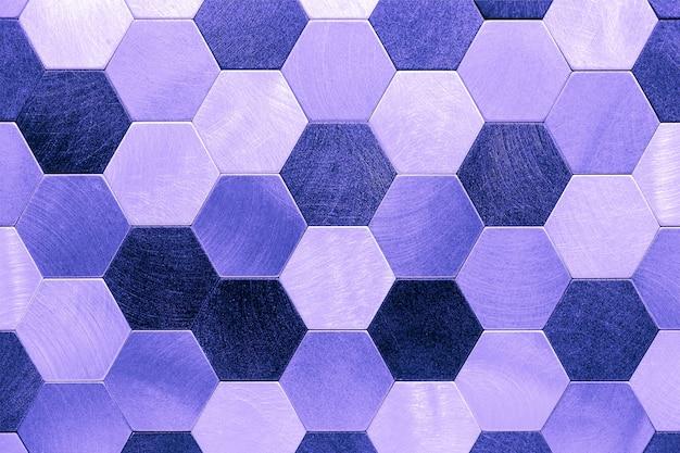 Abstrakter silberner metallhintergrund. geometrische sechsecke.
