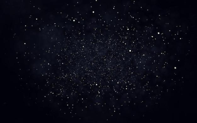 Abstrakter sternstaub-partikelhintergrund