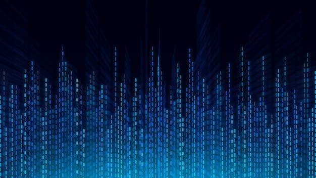 Abstrakter technologiehintergrund, cyberspace und binärcode. digitaler cyberspace und digitales datenkonzept.