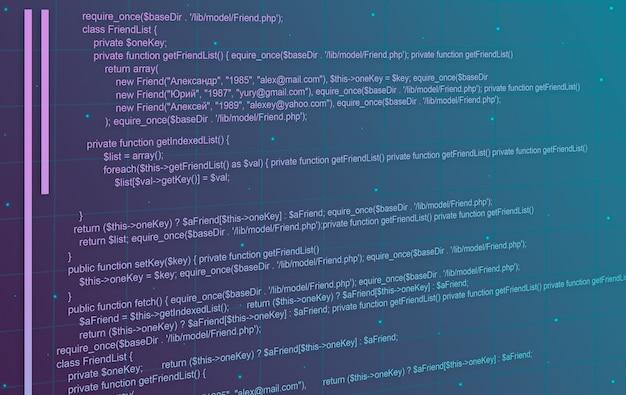 Abstrakter technologiehintergrund des programmiercodes