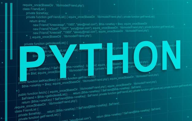 Abstrakter technologiehintergrund des python-programmiercodes