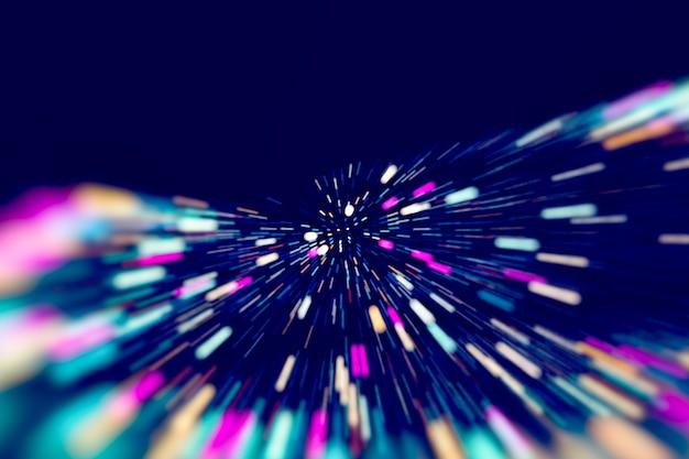 Abstrakter technologischer hintergrund in leuchtenden farben mit unschärfe.