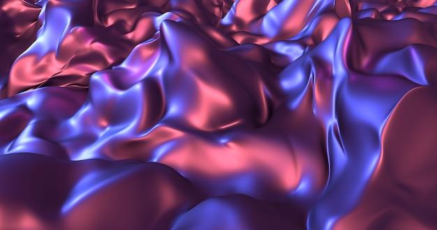 Abstrakter trendiger flüssiger hintergrund. 3d rendern
