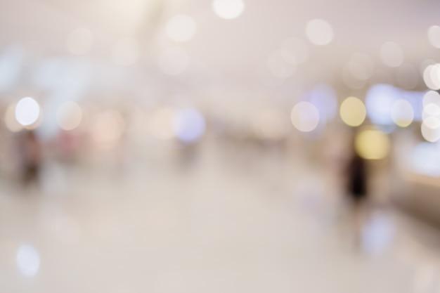 Abstrakter unschärfe-bildhintergrund des einkaufszentruminneren