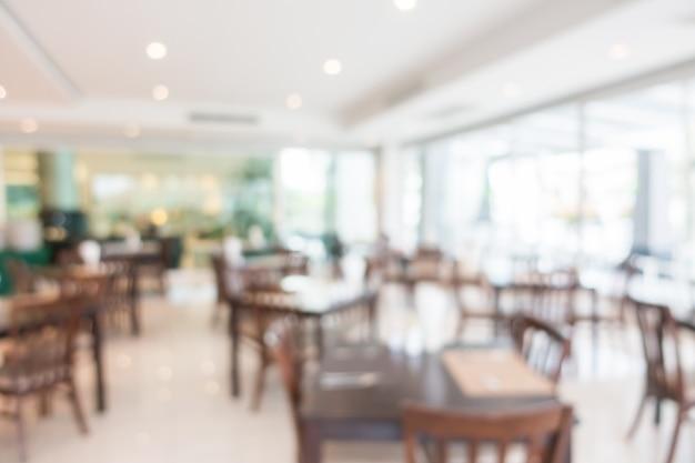 Abstrakter unschärfe restaurantinnenraum