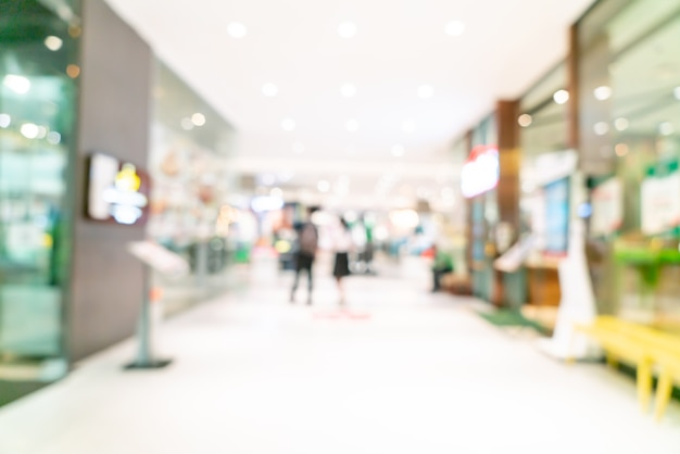 Abstrakter unschärfe-shop und einzelhandelsgeschäft im einkaufszentrum für den hintergrund