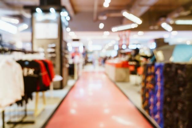 Abstrakter unschärfe-shop und einzelhandelsgeschäft im einkaufszentrum für hintergrund