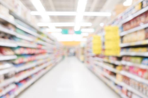 Abstrakter unschärfe supermarkt