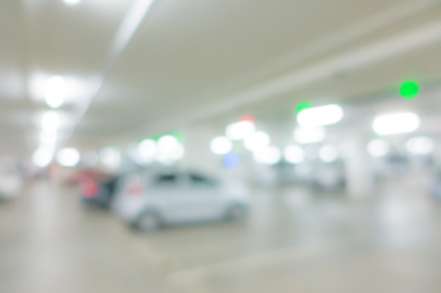 Abstrakter unschärfeparkplatzhintergrund