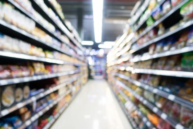 Abstrakter unschärfesupermarkt im kaufhaus