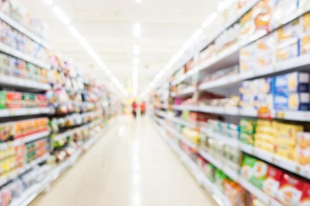 Abstrakter unschärfesupermarkt und einzelhandelsgeschäft