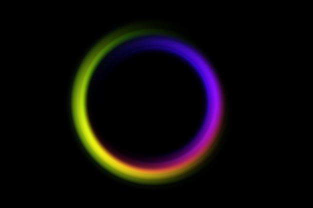 Abstrakter unscharfer kreis in regenbogenfarben auf einem schwarz. Premium Fotos