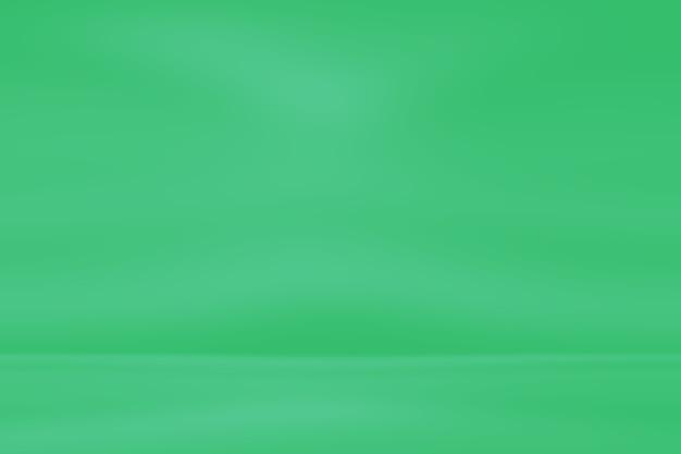 Abstrakter unscharfer leerer grüner gradientenhintergrund Premium Fotos