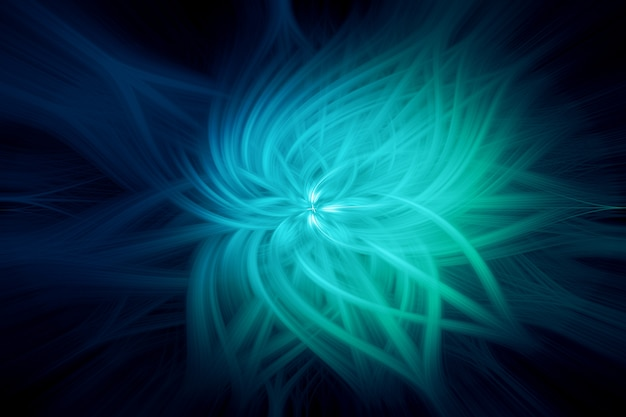 Abstrakter verdrehter lichtleiter-hintergrund-blaues grün