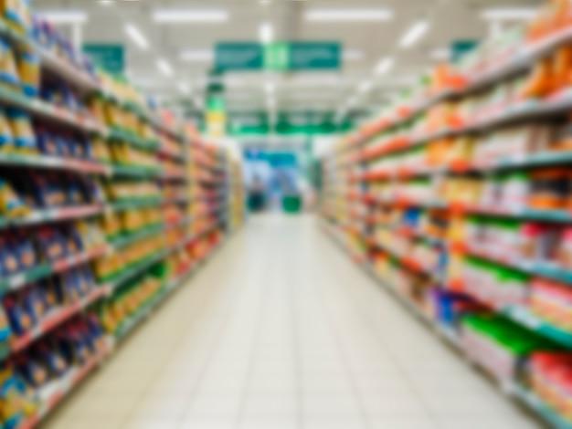 Abstrakter verschwommener supermarkt