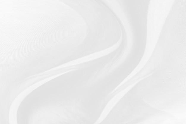 Abstrakter weißer gewebebeschaffenheitshintergrund. wellenförmiger stoff