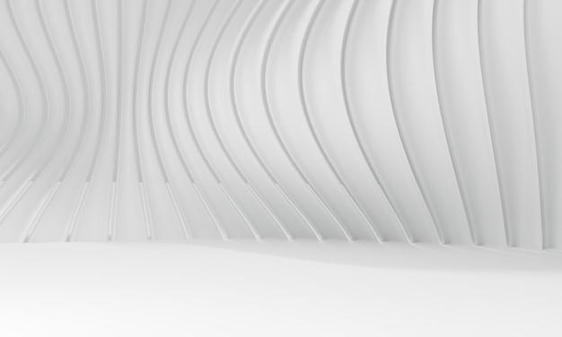 Abstrakter weißer hintergrund. 3d-darstellung der modernen architektur.
