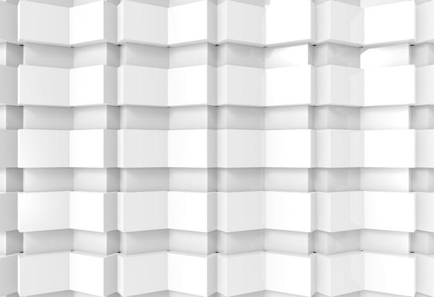 Abstrakter weißer plattenkunstmuster-wandhintergrund.
