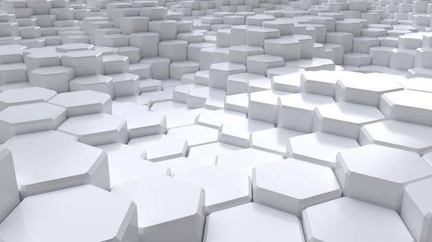 Abstrakter weißer sechseckiger hintergrund