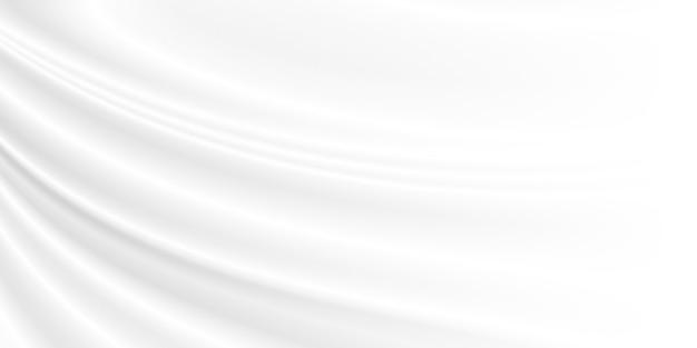 Abstrakter weißer stoffhintergrund mit kopienraum