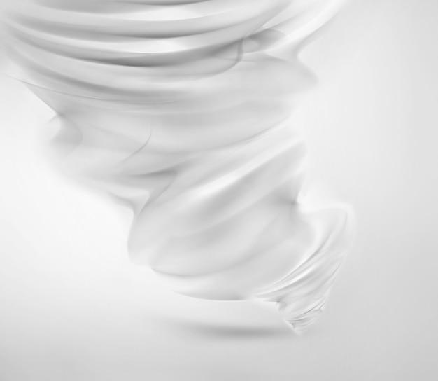 Abstrakter weißer tornado auf hellem hintergrund