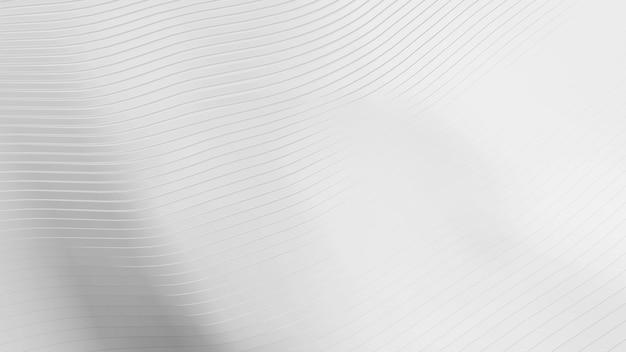 Abstrakter weißer wellenschnitthintergrund. minimalismus-konzept. 3d-illustrations-rendering