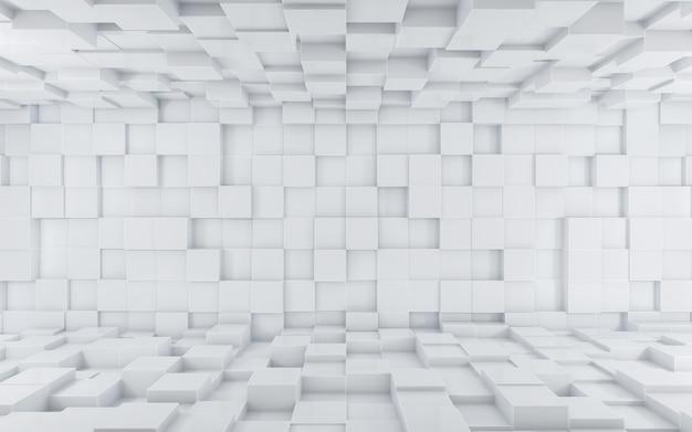 Abstrakter weißer würfelhintergrund
