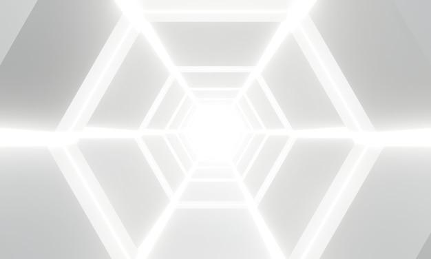 Abstrakter weißlichtarchitekturhintergrund. futuristisches interieur.