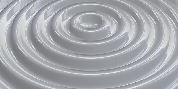 Abstrakter welligkeitskreis welliger wasserkreis glänzender schwankender hintergrund 3d illustration