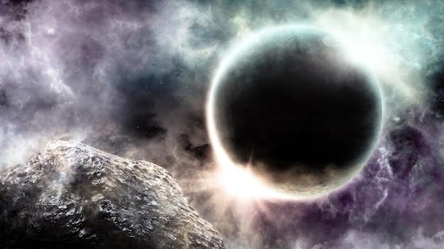 Abstrakter wissenschaftlicher hintergrund der universumsszene im weltraum
