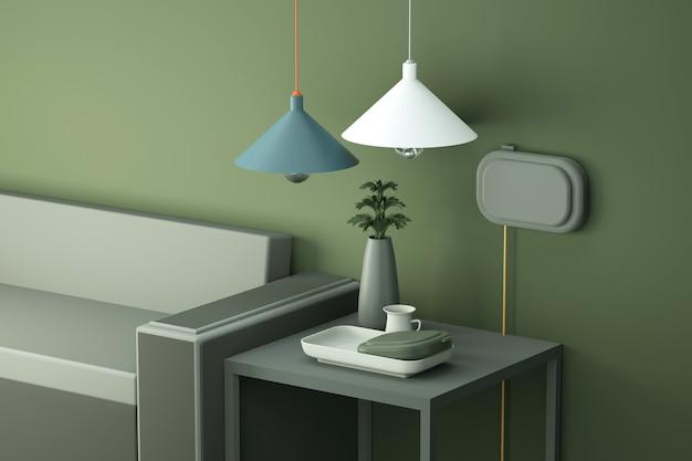 Abstrakter wohnzimmerhintergrund für produktanzeige