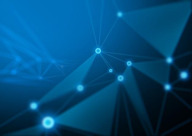 Abstrakter zukünftiger illustrationshintergrund im netztechnologiekonzept